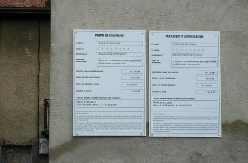 pancarte permis de construire