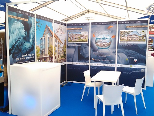 stand, habillage stand, décoration stand pour salon